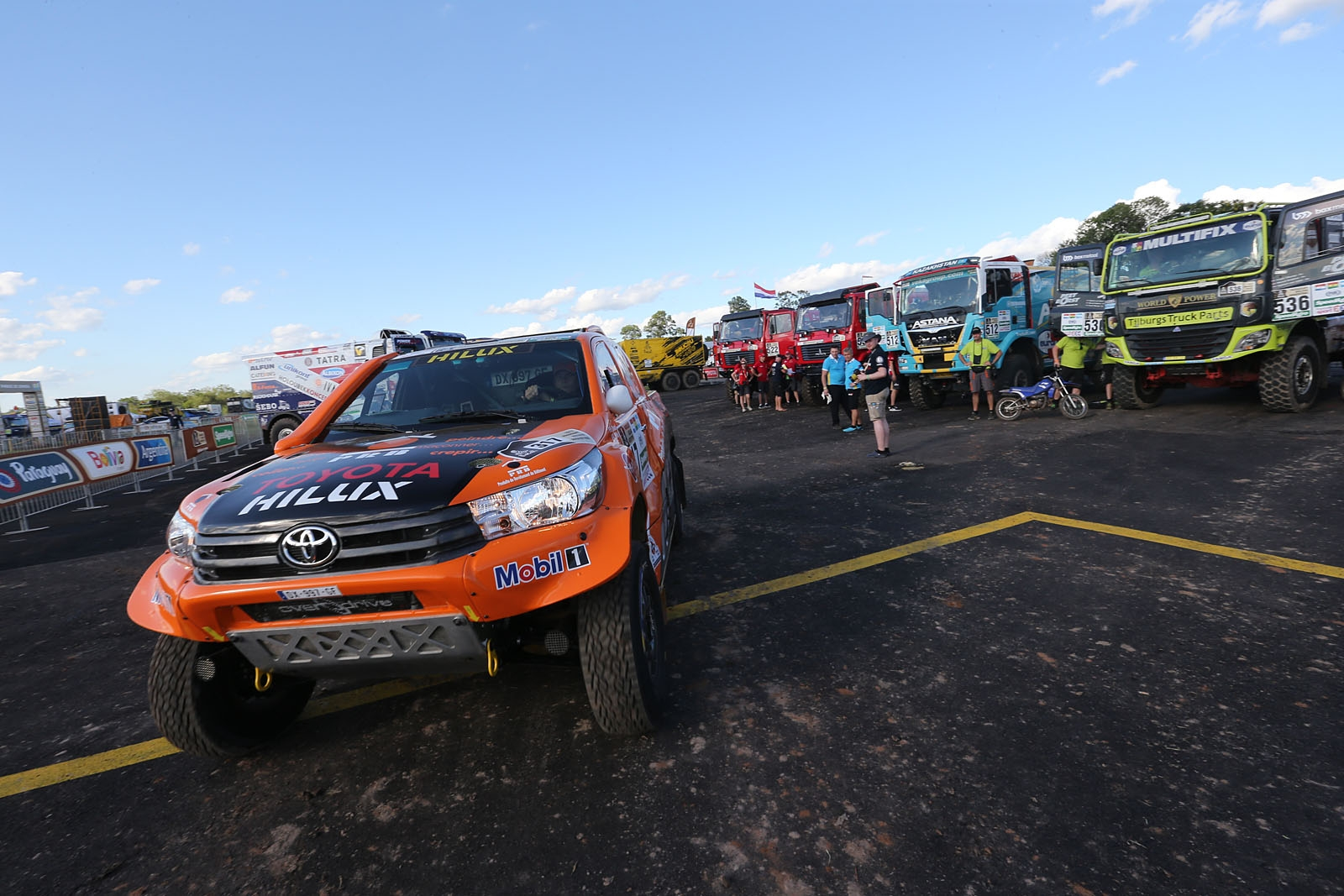 20161231:Asunsion-Paraguay:    TEAM CHABOT  READY FOR THE DAKAR 2017