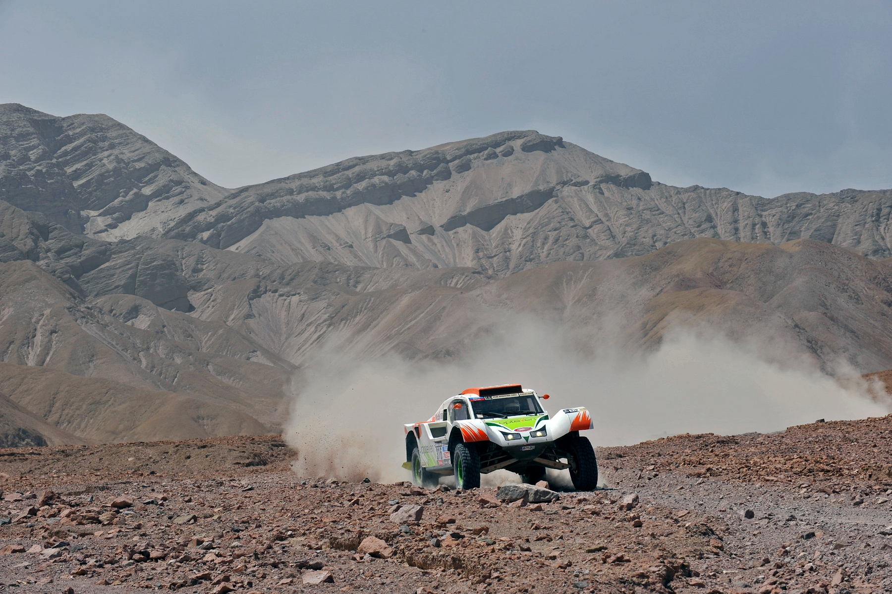 MOTORSPORT - DAKAR PERU CHILE ARGENTINA  2013 - STAGE 5 / ETAPE 5 - AREQUIPA (PER) TO ARICA (CHI) - 09/01/2013 - PHOTO : ERIC VARGIOLU / DPPI -  316 CHABOT RONAN ( FRANCE ) PILLOT GILLES ( FRANCE ) - SMG - TOYS MOTORS - SMG - ACTION