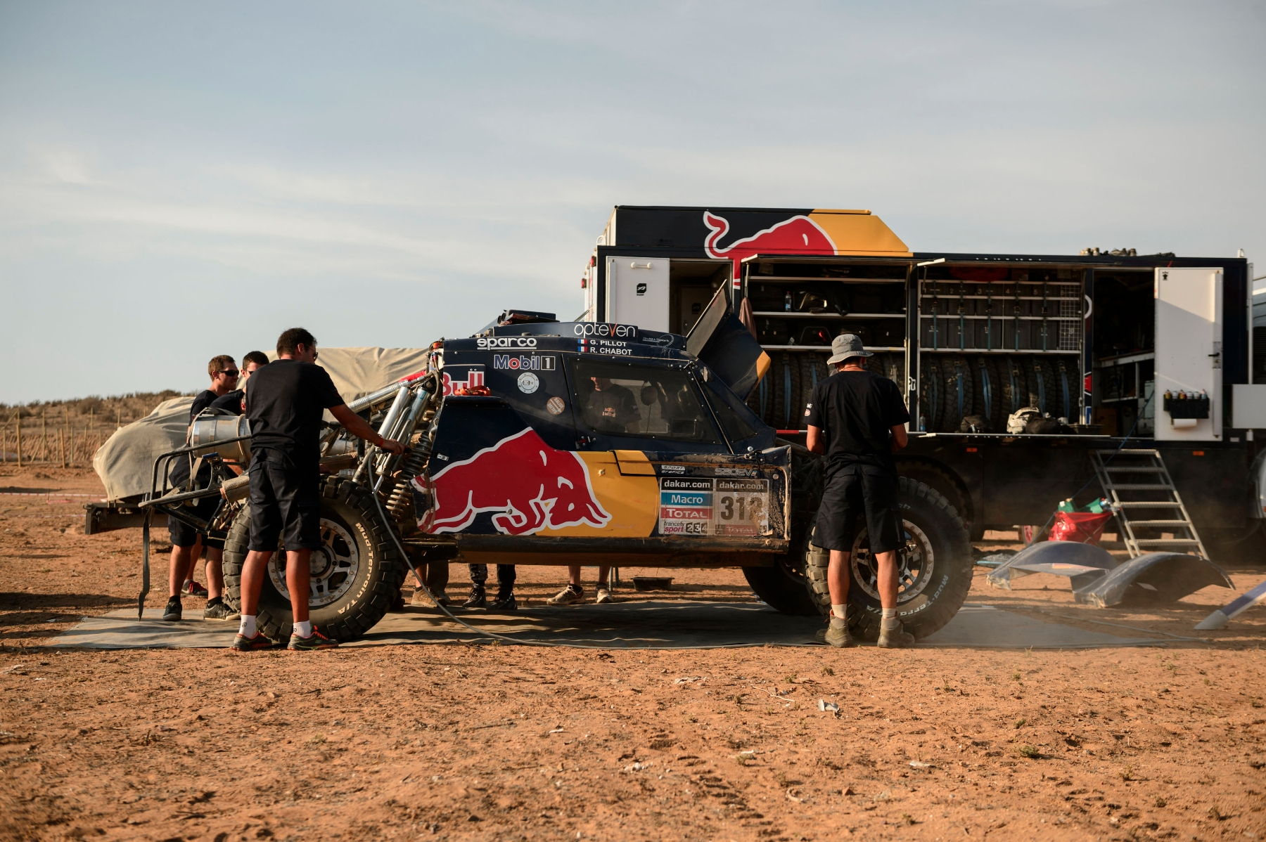 SMG seen at the Dakar Rally bivouac in La Serena, Chile on January 17th, 2014