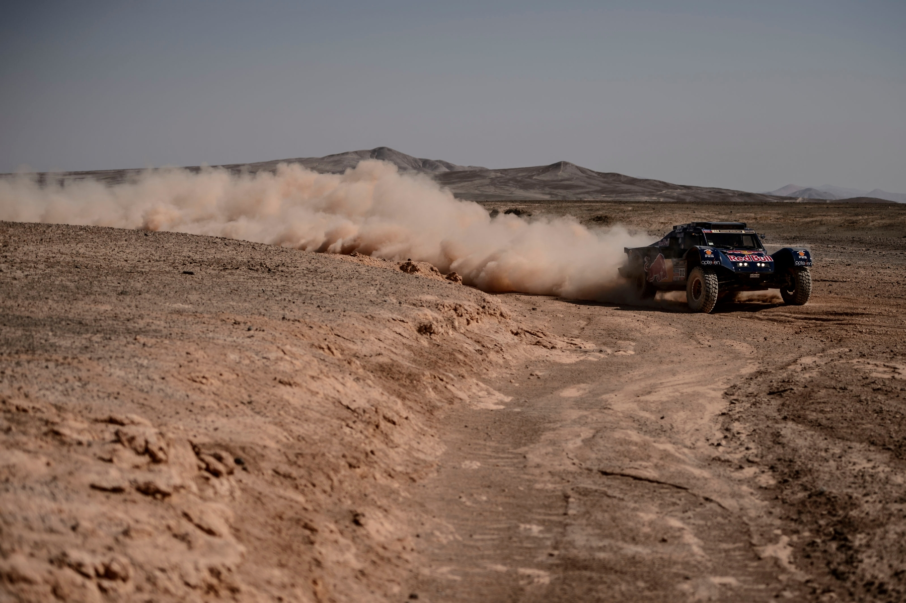 Ronan Chabot (driver) and Gilles Pillot (co-driver) race during the 11th stage of Dakar Rally from Antofagasta to El Salvador, Chile on January 16th, 2014