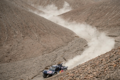 Ronan Chabot (driver) and Gilles Pillot (co-driver) race during the 12th stage of Dakar Rally from El Salvador to La Serena, Chile on January 17th, 2014