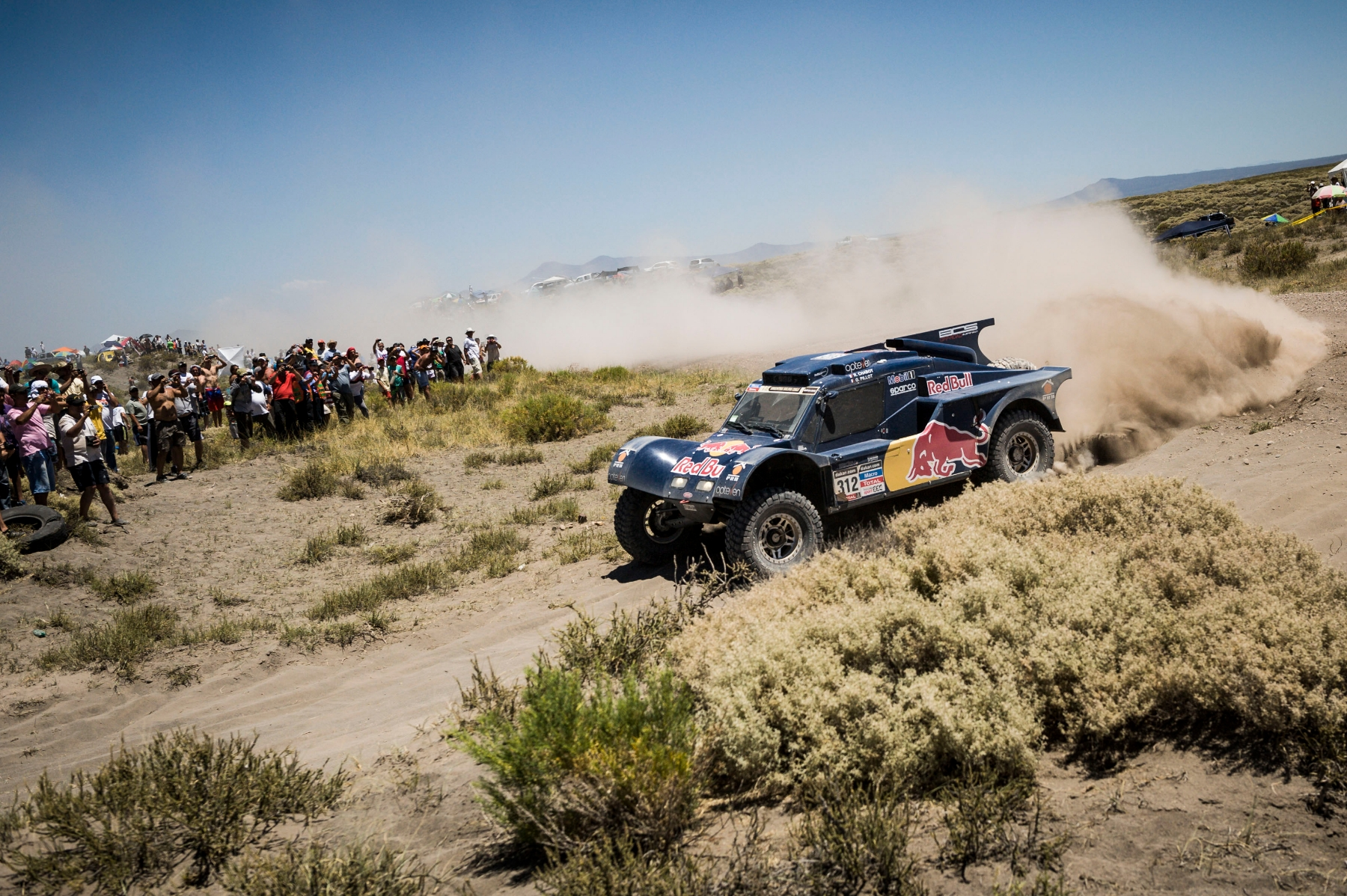 Ronan Chabot (driver) and Gilles Pillot (co-driver) races during the 2nd stage of Dakar Rally from San Luis to San Rafael, Argentina on January 6th, 2014