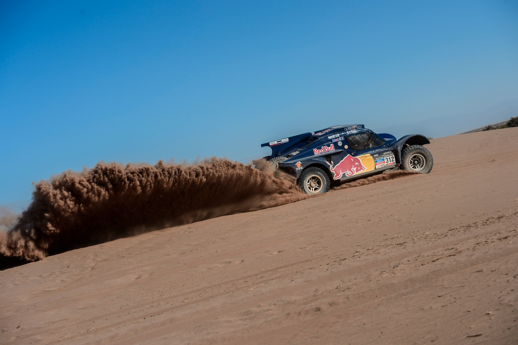 Ronan Chabot (driver) and Gilles Pillot (co-driver) race during the 5th stage of Dakar Rally from Chilecito to Tucuman, Argentina on January 9th, 2014
