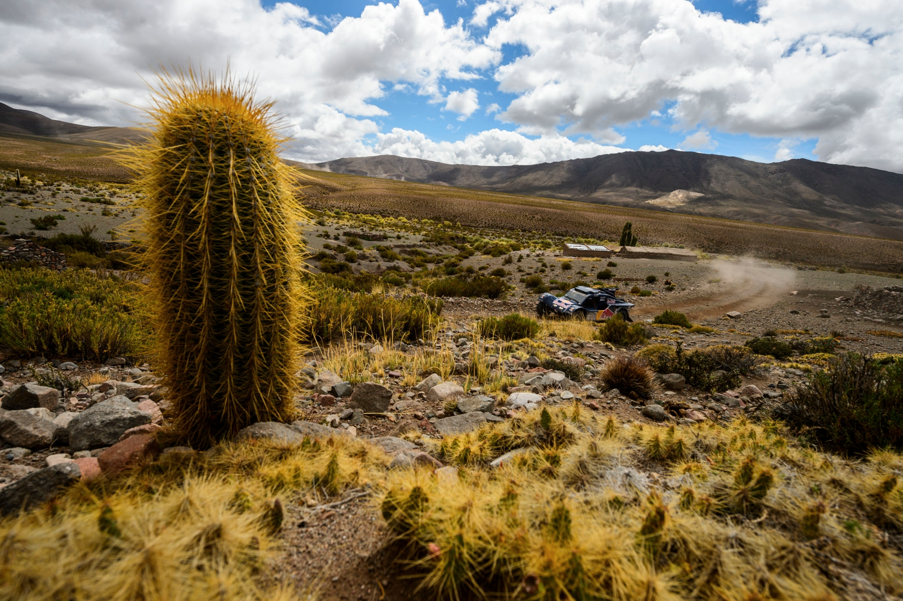 Ronan Chabot (driver) and Gilles Pillot (co-driver) race during the 7th stage of Dakar Rally from Salta, Argentina to Uyuni, Bolivia on January 12th, 2014