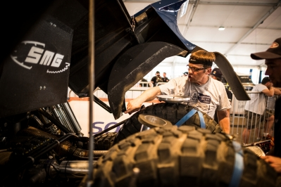 SMG team seen during the techinical verifications for Dakar Rally in Rosario, Argentina on January 2nd, 2014