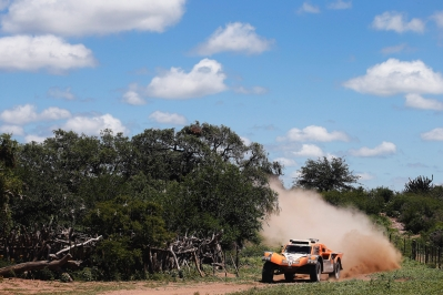 320 CHABOT Ronan (Fra) PILLOT Gilles (Fra) Smg action during the Dakar 2015 Argentina Bolivia Chile, Stage 12 /  Etape 12, Termas de Rio Hondo to Rosario on January 16th 2015 at Termas de Rio Hondo, Argentina. Photo Frederic Le Floch / DPPI