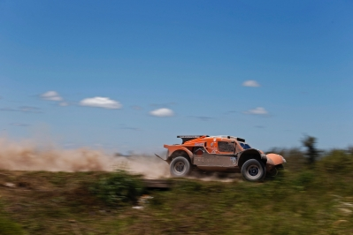 320 CHABOT Ronan (Fra) PILLOT Gilles (Fra) Smg action during the Dakar 2015 Argentina Bolivia Chile, Stage 12 /  Etape 12, Termas de Rio Hondo to Rosario on January 16th 2015 at Termas de Rio Hondo, Argentina. Photo Francois Flamand / DPPI