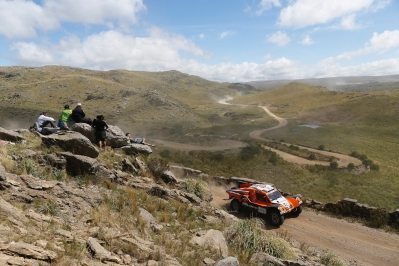 320 CHABOT Ronan (Fra) PILLOT Gilles (Fra) Smg action during the Dakar 2015 Argentina Bolivia Chile, Stage 2 / Etape 2 -  Villa Carlos Paz to San Juan on January 5th 2015 at Villa Carlos Paz, Argentina. Photo Francois Flamand / DPPI