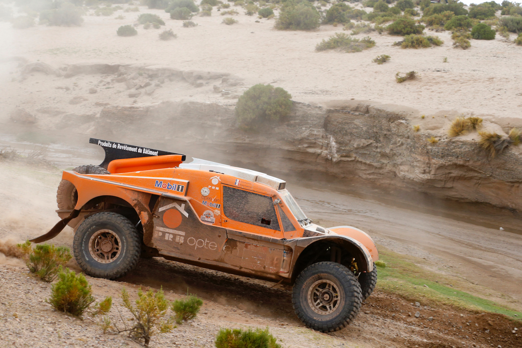 320 CHABOT Ronan (Fra) PILLOT Gilles (Fra) Smg action during the Dakar 2015 Argentina Bolivia Chile, Car Marathon Stage 7a / Auto Etape Marathon 7a, Iquique to Uyuni on January 10th 2015 at Iquique, Chile. Photo Frederic Le Floch / DPPI
