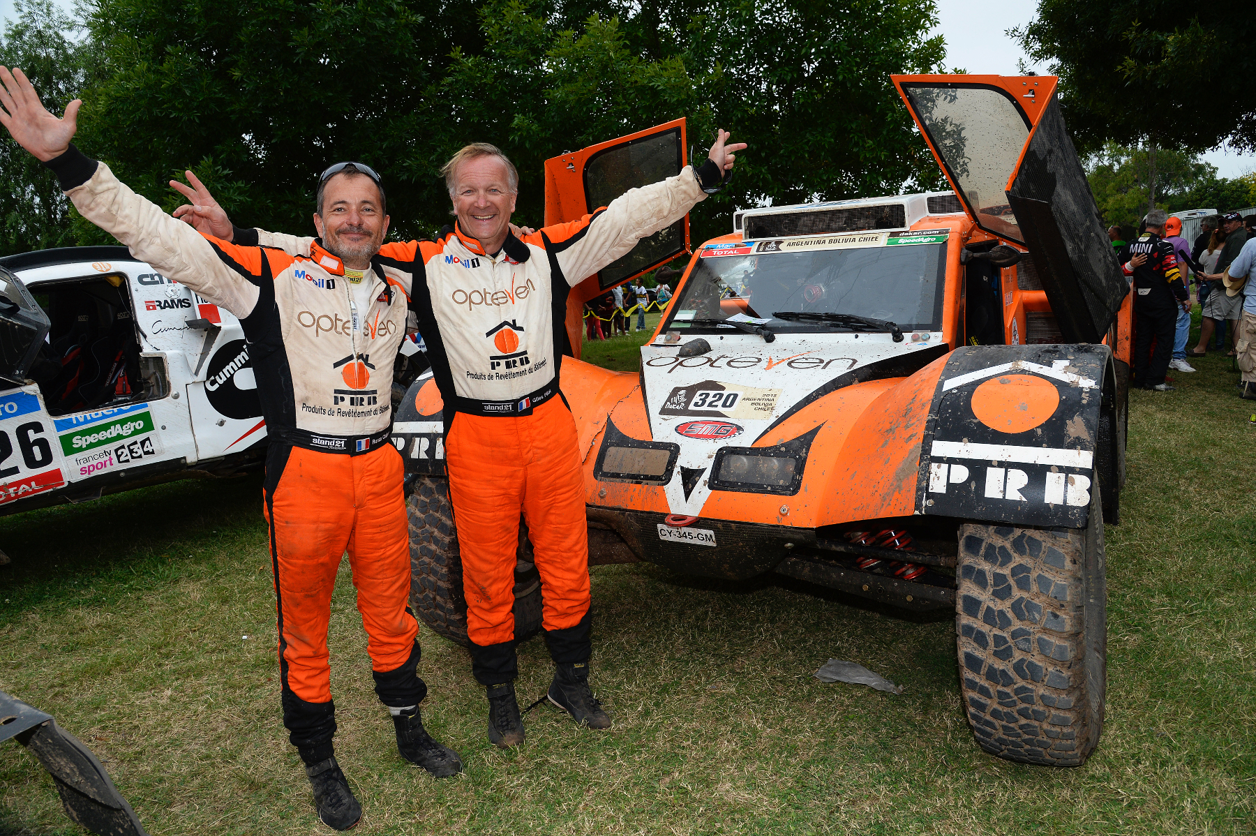 320 CHABOT Ronan (Fra) PILLOT Gilles (Fra) Smg ambiance during the Dakar 2015 Argentina Bolivia Chile, Stage 13 Finish and Podium /  Etape 13, Rosario to Buenos Aires on January 17th 2015 at Rosario, Argentina. Photo Eric Vargiolu / DPPI