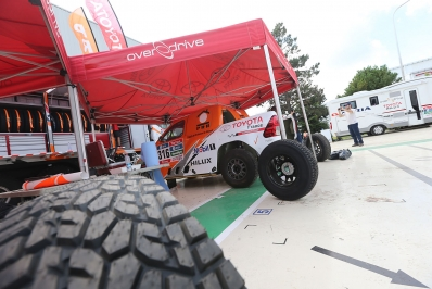 DAKAR RALLY 2016:ARGENTINA-BOLIVIA-ARGENTINACHABOT AT THE TOYOTA FACTORY