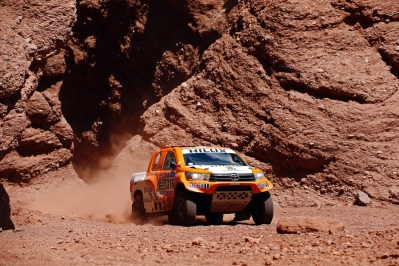316 CHABOT Ronan (fra) PILLOT Gilles (fra) TOYOTA action during the Dakar 2016 Argentina,  Bolivia, Etape 8 / Stage 8, Salta - Belen,  from  January 11, 2016 - Photo Gregory Lenormand / DPPI