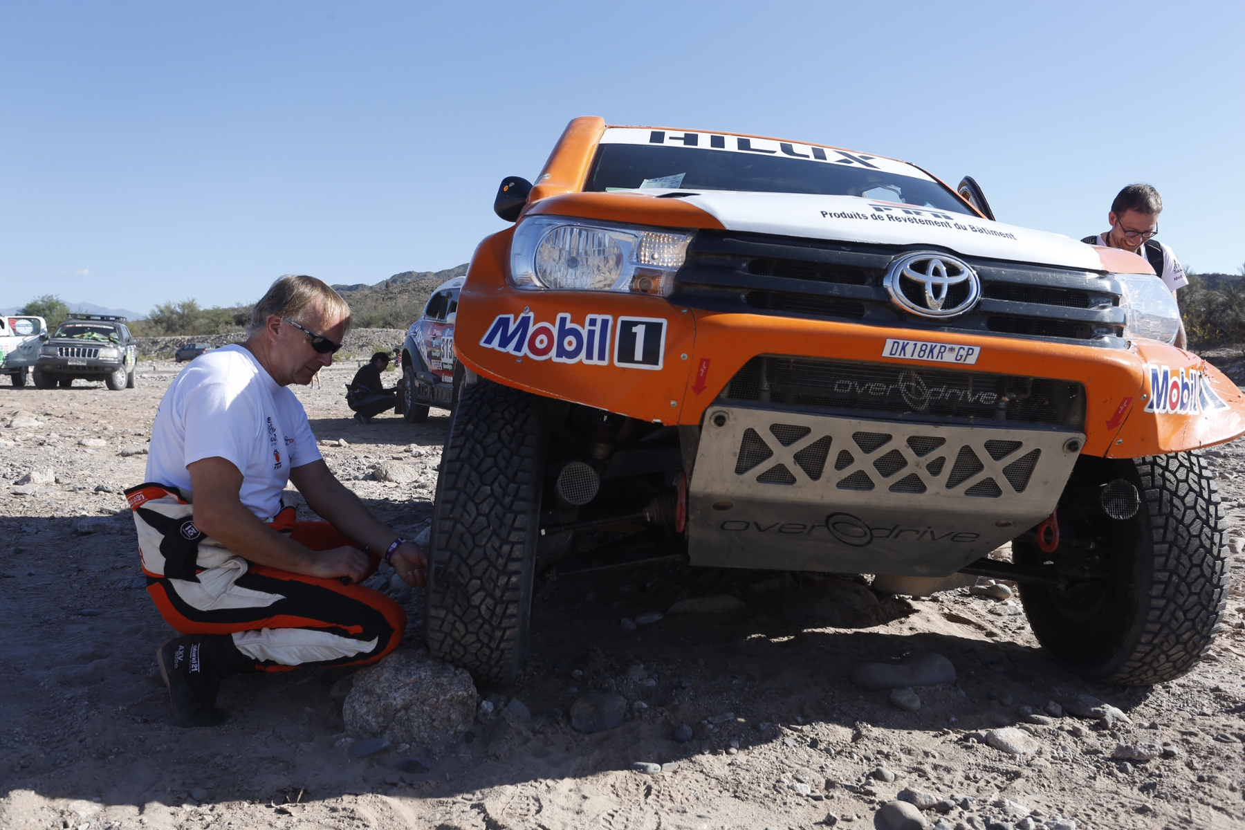 316 CHABOT Ronan (fra) PILLOT Gilles (fra) TOYOTA ambiance during the Dakar 2016 Argentina,  Bolivia, Etape 9 / Stage 9, Belen - Belen,  from  January 12, 2016 - Photo Florent Gooden / DPPI
