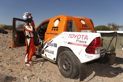 316 CHABOT Ronan (fra) PILLOT Gilles (fra) TOYOTA ambiance during the Dakar 2016 Argentina,  Bolivia, Etape 9 / Stage 9, Belen - Belen,  from  January 12, 2016 - Photo Florent Gooden / DPPI