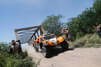320 CHABOT Ronan (Fra) PILLOT Gilles (Fra) Smg action during the Dakar 2015 Argentina Bolivia Chile, Stage 1 / Etape 1 -  Buenos Aires to Villa Carlos Paz on January 4th 2015 at Buenos Aires, Argentina. Photo Francois Flamand / DPPI