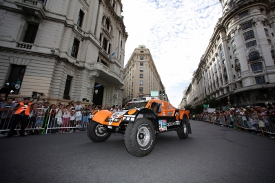 320 CHABOT Ronan (Fra) PILLOT Gilles (Fra) Smg action during the Dakar 2015 Argentina Bolivia Chile, Start Podium / Podium de Départ on January 3rd 2015 at Buenos Aires, Argentina. Photo Florent Gooden / DPPI