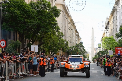 320 CHABOT Ronan (Fra) PILLOT Gilles (Fra) Smg action during the Dakar 2015 Argentina Bolivia Chile, Start Podium / Podium de Départ on January 3rd 2015 at Buenos Aires, Argentina. Photo Eric Vargiolu / DPPI