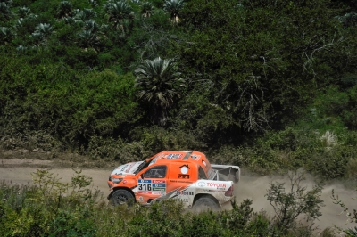 316 CHABOT Ronan (fra) PILLOT Gilles (fra) TOYOTA action during the Dakar 2016 Argentina,  Bolivia, Etape 12 / Stage 12,  San Juan - Villa Carlos Paz,  from  January 15, 2016 - Photo Eric Vargiolu / DPPI