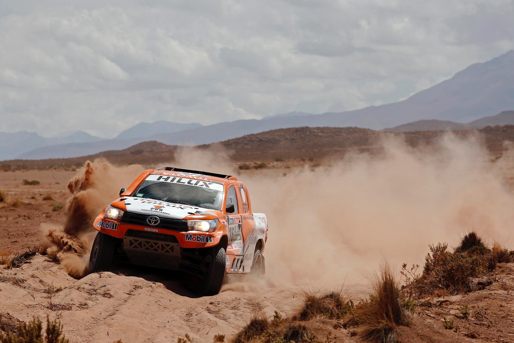 316 CHABOT Ronan (fra) PILLOT Gilles (fra) TOYOTA action during the Dakar 2016 Argentina,  Bolivia, Etape 6 - Stage 6, Uyuni - Uyuni,  from  January 8, 2016 - Photo Florent Gooden / DPPI