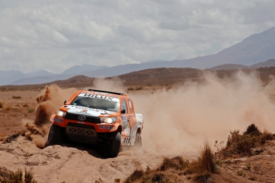 316 CHABOT Ronan (fra) PILLOT Gilles (fra) TOYOTA action during the Dakar 2016 Argentina,  Bolivia, Etape 6 - Stage 6, Uyuni - Uyuni,  from  January 8, 2016 - Photo Florent Gooden / DPPI