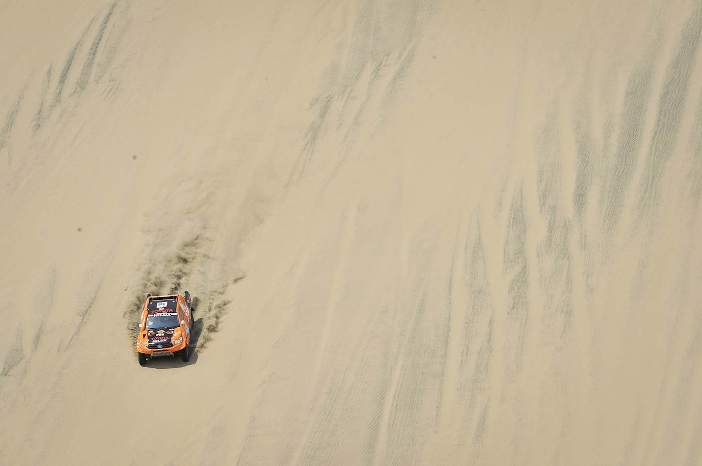 316 CHABOT RONAN (FRA) Legende, PILLOT GILLES (FRA) Legende, TOYOTA Hilux, auto, car, action during the Dakar 2018, Stage 1 Lima to Pisco, Peru, on january 6 - Photo DPPI