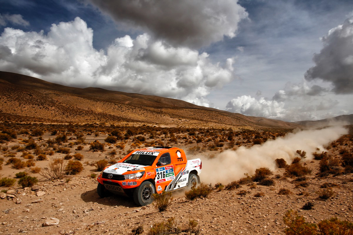 316 CHABOT Ronan (fra) PILLOT Gilles (fra) TOYOTA action during the Dakar 2016 Argentina Bolivia, Etape 4 - Stage 4, Jujuy - Jujuy,  from  January 6, 2016 , Argentina - Photo Frederic Le Floc'h / DPPI