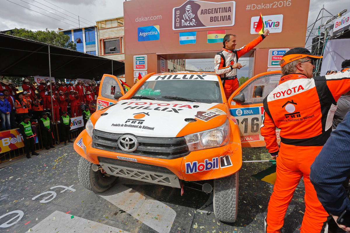 316 CHABOT Ronan (fra) PILLOT Gilles (fra) TOYOTA action during the Dakar 2016 Argentina Bolivia, Etape 5 - Stage 5, Jujuy - Uyuni,  from  January 7, 2016 , Argentina - Photo Gregory Lenormand / DPPI