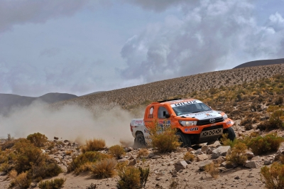 316 CHABOT Ronan (fra) PILLOT Gilles (fra) TOYOTA action during the Dakar 2016 Argentina Bolivia, Etape 4 - Stage 4, Jujuy - Jujuy,  from  January 6, 2016 , Argentina - Photo DPPI
