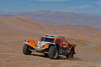 320 CHABOT Ronan (Fra) PILLOT Gilles (Fra) Smg action during the Dakar 2015 Argentina Bolivia Chile, Stage 4 / Etape 4 -  Chilecito to Copiapo on January 7th 2015 at Chilecito, Argentina. Photo Frederic Le Floch / DPPI