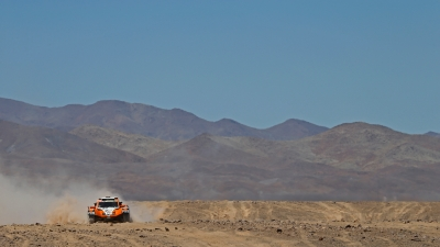 320 CHABOT Ronan (Fra) PILLOT Gilles (Fra) Smg action  during the Dakar 2015 Argentina Bolivia Chile, Stage 5 / Etape 5 -  Copiapo to Antofagasta on January 8th 2015 at Copiapo, Chile. Photo Frederic Le Floch / DPPI